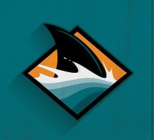 San Jose Sharks Minimalistic Print by SomebodyApparel