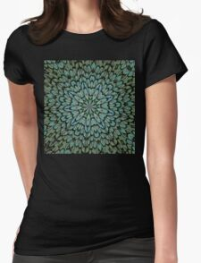 Attractive Peacock Feathers Kaleidoscope Womens Fitted T-Shirt