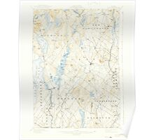 Maine USGS Historical Map Gray 460444 1898 62500 Poster