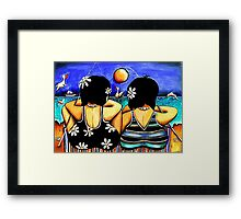 Sisters Fishing Framed Print