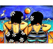 Sisters Fishing Photographic Print