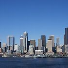 Panorama - Seattle waterfront skyline by cascoly