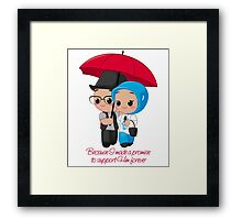 Support Him forever Framed Print