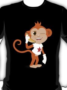 Funky Monkey On the Phone T-Shirt