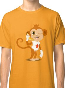 Funky Monkey On the Phone Classic T-Shirt