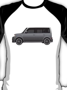 Vectored Boxcar Silver T-Shirt