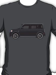 Vectored Boxcar Black T-Shirt