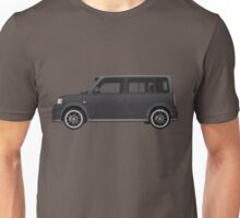 Vectored Boxcar Black Unisex T-Shirt