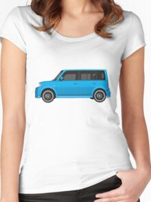 Vectored Boxcar Blue Women's Fitted Scoop T-Shirt