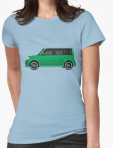 Vectored Boxcar Green Womens Fitted T-Shirt