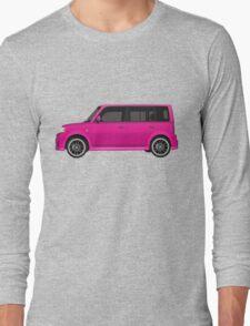 Vectored Boxcar Pink Long Sleeve T-Shirt