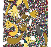 World Hands by Dentanarts