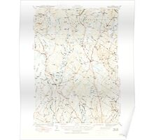 Maine USGS Historical Map Gray 460447 1944 62500 Poster