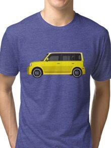 Vectored Boxcar Yellow Tri-blend T-Shirt