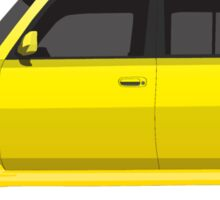 Vectored Boxcar Yellow Sticker