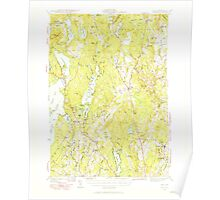 Maine USGS Historical Map Gray 460448 1942 62500 Poster