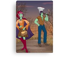 Red and the Woodsman Canvas Print