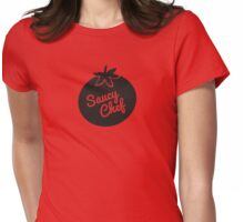 Saucy Chef - Tomato - James Newton Cooking Apparel Womens Fitted T-Shirt