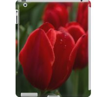 Vibrant Red Spring Tulips iPad Case/Skin