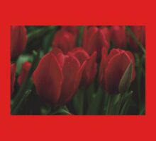 Vibrant Red Spring Tulips Kids Clothes