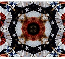 The Red White and Blue  Photographic Print