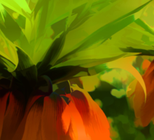 Showy Orange Crown Imperial Flowers - Impressions Of Spring Sticker