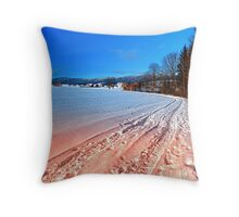 Hiking through a beautiful winter scenery | landscape photography Throw Pillow