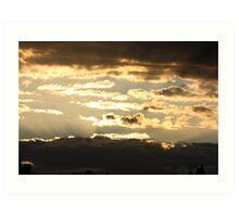 Cloudy Sunsets Art Print