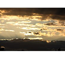 Cloudy Sunsets Photographic Print