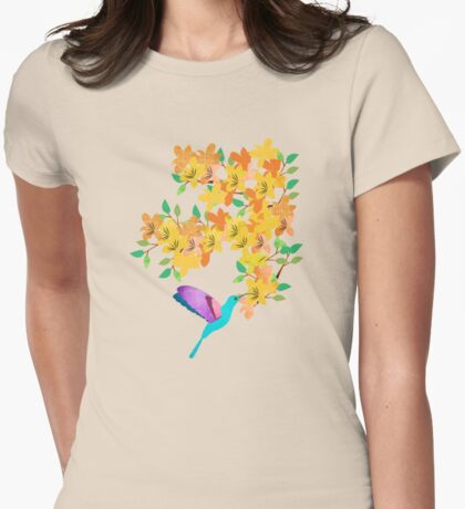 Sun bird Womens Fitted T-Shirt