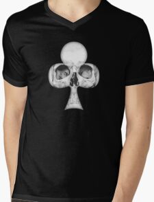 Skull of Clubs - Charcoal Mens V-Neck T-Shirt