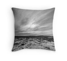 Portrait of Point Ellen in Black and White Throw Pillow