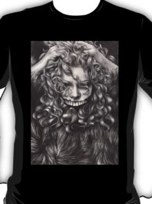 girl, invisible monsters Palahniuk, horror, face, dark, eyes T-Shirt