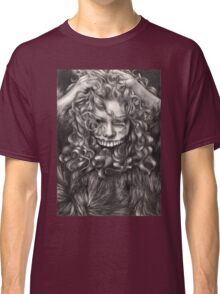 girl, invisible monsters Palahniuk, horror, face, dark, eyes Classic T-Shirt