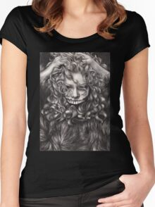 girl, invisible monsters Palahniuk, horror, face, dark, eyes Women's Fitted Scoop T-Shirt