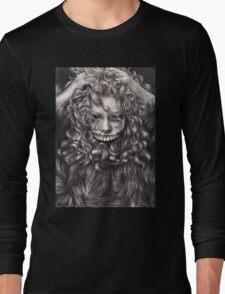 girl, invisible monsters Palahniuk, horror, face, dark, eyes Long Sleeve T-Shirt