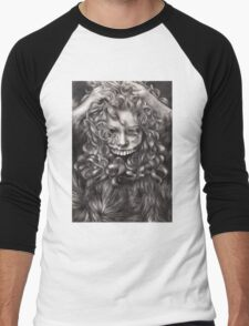 girl, invisible monsters Palahniuk, horror, face, dark, eyes Men's Baseball ¾ T-Shirt