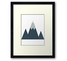 Icy Mountain Framed Print