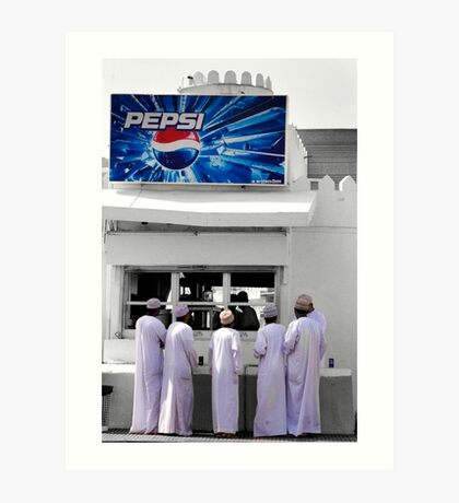 The Pepsi Stand Art Print