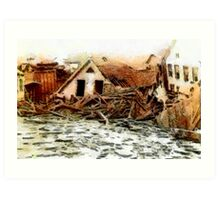 Johnstown Flood, Cambria County, Pennsylvania 1889 - all products Art Print