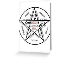 Summon a Constantine Season 2 Greeting Card