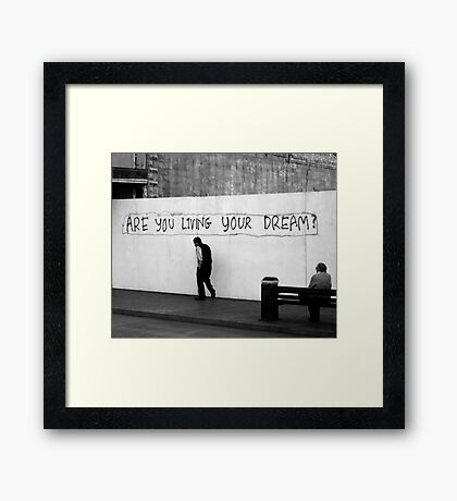 Living (in mono) Framed Print