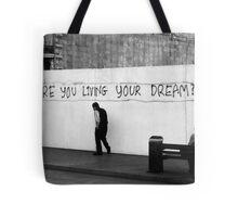 Living (in mono) Tote Bag