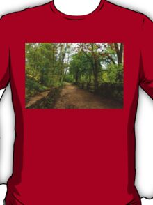 Dreamy Forest Road With Flowers - Impressions Of Spring T-Shirt