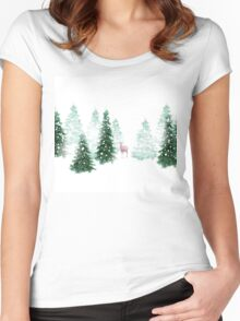 Christmas Background Women's Fitted Scoop T-Shirt