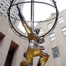 Atlas holding up the World by Curley