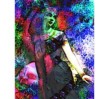 Girl with Lotus Flower Photographic Print