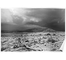 Burren thunderstorm Poster