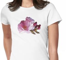 Cherry Blossom and Buds Womens Fitted T-Shirt