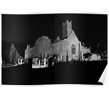Quin Abbey view Poster